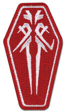 """GUILTY CROWN FUNERAL PARLOR ICON PATCH 2.5"""" x 1.25"""" Licensed GE Animation 44576"""