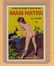 Man Hater by JX Williams promo card book mark GGA pulp fiction sleaze novel