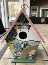 """Herb Gardens"" birdhouse by artist Kathy Hatch featuring grape vines 8x7x5.5"