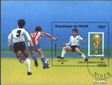 Níger Bloque 49 (edición completa) usado 1986 Fútbol-WM ´86, Mexico