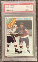1978 1979 Topps Mike Bossy PSA 8 RC ROOKIE NM MT Near Mint - Mint #115 Islanders