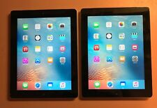 Lot of 2 * Apple iPad 3rd Gen 64gb AT&T - decent shape overall but has engraving