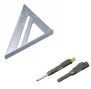 """SPEED SQUARE ROOFING RAFTER ANGLE TRIANGLE 7"""" TRACER ADP2 DEEP HOLE PENCIL ACER"""