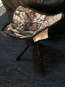 Ameristep Portable Tripod Stool Seat Chair for Hunting Blind, Camping, Outdoors