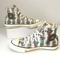 CONVERSE Chuck Taylor All Star Unisex Hi-Top Sneakers Fun Printed Design SZ 6/8