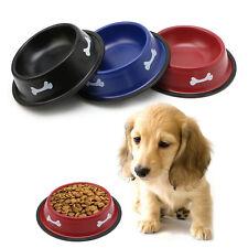 Stainless Steel Pet Dog Cat Puppy No-Slip Travel Feeding Food Water Bowl Dish