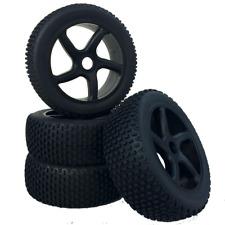 Buggy Tyres Wheels Set Virus with 5 - Spoke Wheels Black 1:8 4 Piece partcore 32