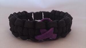 Alzheimer's/Dementia Awareness Paracord 550 Bracelet