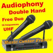 Audiophony pack Double Hand - double micro main sans fil NEUF GARANTIE 2 ans
