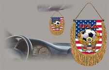 USA SOCCER FLAG CAR MINI BANNER, PENNANT