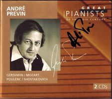 Andre PREVIN Signed GREAT PIANISTS OF THE 20TH CENTURY Gershwin Mozart Pounlen
