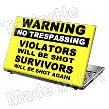 "15,6 ""Laptop piel cubierta Sticker Decal Funny advertencia 18"