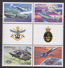 1996 Military Aviation - MUH Gutter Block of 4