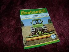 Prospectus / Brochure EBERHARDT Herses rotatives Gamme / Full line 1992 //