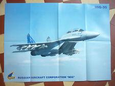 2009 PLAQUETTE + POSTER MIG 35 MULTIROLE COMBAT AIRCRAFT RUSSIAN AIRCRAFT