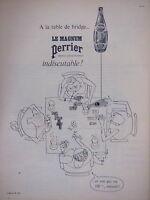 PUBLICITÉ PERRIER MAGNUM MINÉRALE GAZEUSE NATURELLE A LA TABLE DE BRIDGE