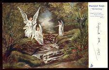 Illustrated songs Killarney Angels fold Tuck 1158 u/b PPC used 1903 Kerry