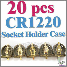 20 x Battery Button Cell Socket Holder Case CR1220 1220