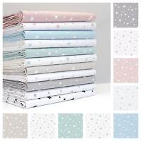 All New Pastel Etoile Stars Fabric100% Cotton Patchwork Dressmaking Children's