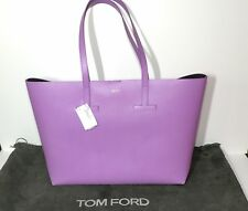 875c6856436f Tom Ford Small T Saffiano Leather Tote Bag in Lilac New w Tag