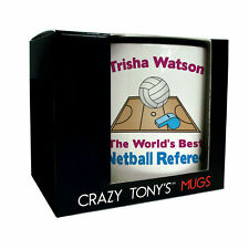 Worlds Best Netball Referee Gift Mug Personalised Gifts For Netball Referees