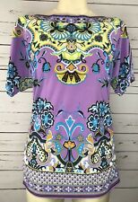 ECI Small Vibrant Comfy Ruched Top NWT Unique