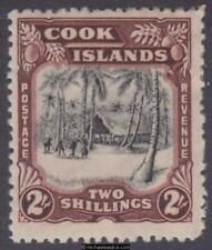 1945 Cook Islands 2s Black & Red-Brown, SG 144, MH