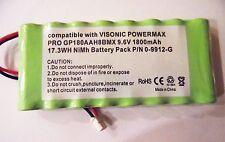 VISONIC POWERMAX COMPLETE ALARM CONTROL PANEL 9.6V 1800mAh BATTERY P/N 0-9912-G