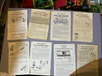 Lionel Locomotive and Accessory Instruction Booklets 1940 - 1960's Lot of 18