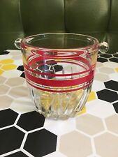 Rare Retro Vintage Glass Ice Bucket