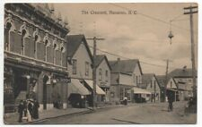 1916 Postcard of Street Scene at The Crescent Nanaimo British Columbia Canada