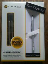 FREE ENGRAVING (PERSONALIZED) Cross Classic Century Satin Chrome Pen