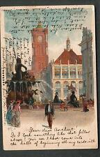 Germany 1901 Kiley artwork post card Berlin to Miss Borchert Schoneberg