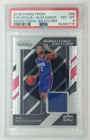 2018-19 Panini Sensational Swatches Shai Gilgeous-Alexander RC #95, Graded PSA 8