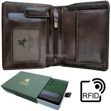 Visconti Quality Dark Brown Real Leather Wallet RFID Blocking Tuscany New TSC44
