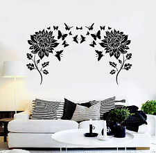 Vinyl Wall Decal Flowers Butterflies Home Room Decor Stickers (ig4630)