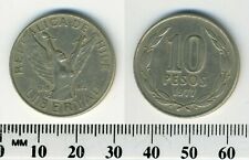 Chile 1982 50 PESOS Coin with 10-Sided Shape /& Security Edge