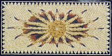 "60"" Handmade Shiny Sun Dark Frame Edges Wall Hanging Home Decor Marble Mosaic"