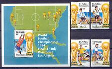 Fußball WM 1994, Soccer - Tuvalu - 687-690, Bl.50 ** MNH