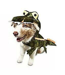 Bootique Green Gator Adjustable Alligator Dog Costume Large Big Dog NWT