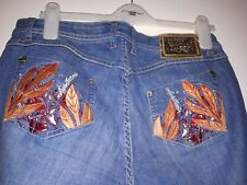 Apple Bottoms Ladies Blue Bootcut Jeans Size 11/12US ( 14 UK )USED.