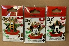 2017 DISNEY STORE Limited Release Christmas Set of 3 pins Mickey, Minnie, Pluto