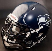*CUSTOM* SEATTLE SEAHAWKS NFL Riddell Full Size SPEED Football Helmet