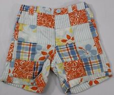 Gymboree Toddler Boy 12-18 Mo By The Seashore Cargo Shorts Blue Orange Aloha
