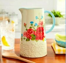 New listing New! Mothers Day! Pioneer Woman Sweet Rose Ceramic Pitcher, 2.1 Quart, Nwt!