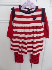 Hide & Seek Designer baby girls combined dress/leggings outfit - Size 0-3 months