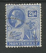 MONTSERRAT SG52 THE 1916-22  GV 2.5d BRIGHT BLUE FINE USED CAT £26
