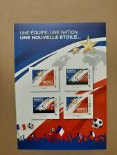 Timbre Bloc Coupe du Monde 2018 - Merci les bleus - 2 étoiles France
