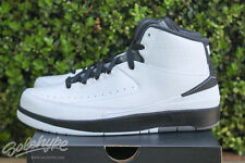 AIR JORDAN 2 RETRO II SZ 6.5 Y GS WING IT BLACK WHITE DARK GREY 834283 103