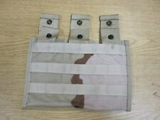 NEW DCU DESERT CAMO SIDE BY SIDE POUCH,3 MAG GENUINE USA MADE